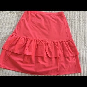 NWT coral J Crew skirt